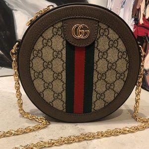 GUCCI Ophidia Round Mini Shoulder Bag